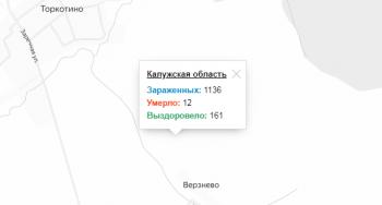 Карта распространения коронавируса в Калужской области